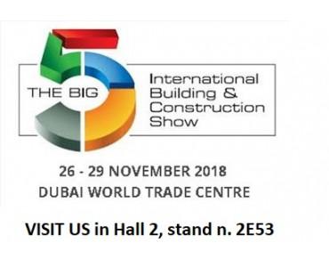 BIG 5 DUBAI, INTERNATIONAL TRADE SHOW, 26-29 NOV. 2018